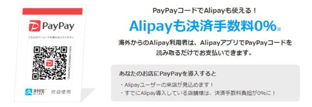 Alipay(アリペイ)決済の導入も可能