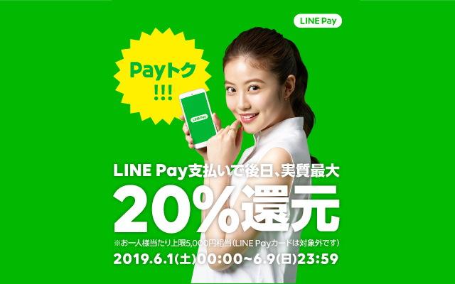 LINE Payの6月度「Payトク」キャンペーンについて