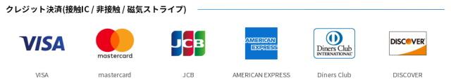 クレジットカードは「タッチ決済(NFC)」にも対応!