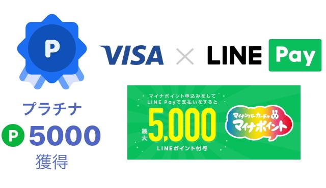 マイナポイントで「LINE Pay」のマイランクを「プラチナ」にする方法