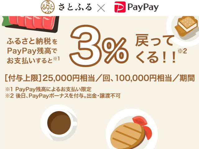 12月と1月は「PayPay」で「ふるさと納税」がお得!