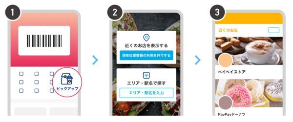 ホーム画面の「ピックアップ」から「お店」を選択