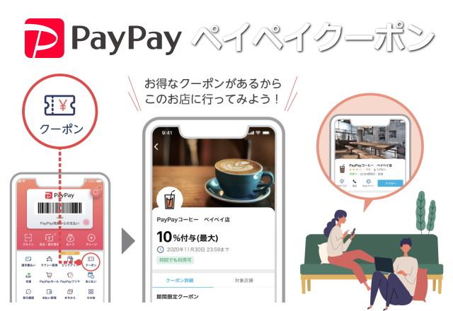 お店オリジナルの「PayPayクーポン」を発行出来る有料サービスが始まりました!