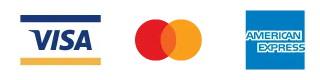 Visa、Mastercard、American Expressの3ブランドのクレジットカードに対応